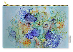 Carry-all Pouch featuring the painting Bouquet Of Blue And Gold by Joanne Smoley