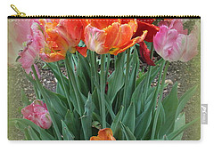 Bouquet Of Colorful Tulips Carry-all Pouch
