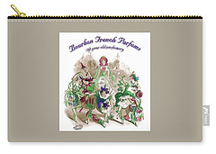 Carry-all Pouch featuring the digital art Bourbon French Perfume by ReInVintaged