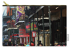 Carry-all Pouch featuring the photograph Bourbon Street by Steven Spak