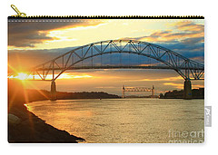 Bourne Bridge Sunset Carry-all Pouch