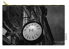 Boutique Sign Black And White Carry-all Pouch