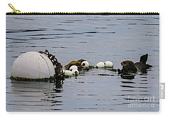 Bouyed Sea Otter  Carry-all Pouch by Suzanne Luft