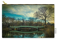 Carry-all Pouch featuring the photograph Bow Bridge Reflection by Chris Lord