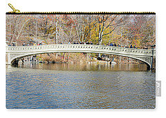 Carry-all Pouch featuring the photograph Bow Bridge With Wedding by Steven Richman