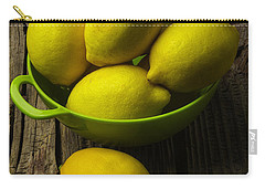 Bowl Of Lemons Carry-all Pouch by Garry Gay