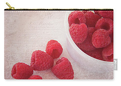 Bowl Of Red Raspberries Carry-all Pouch