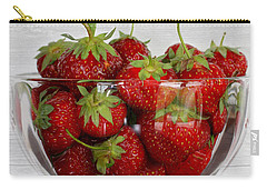 Bowl Of Strawberries Carry-all Pouch