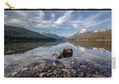 Bowman Lake Rocks Carry-all Pouch by Aaron Aldrich