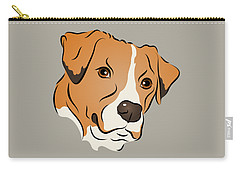 Boxer Mix Dog Graphic Portrait Carry-all Pouch