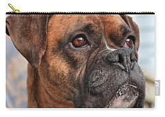 Carry-all Pouch featuring the photograph Boxer Portrait by Debbie Stahre