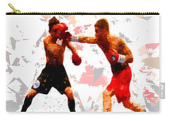 Carry-all Pouch featuring the painting Boxing 113 by Movie Poster Prints
