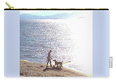 Carry-all Pouch featuring the photograph Boy And Dog by Felipe Adan Lerma