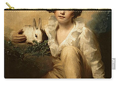 Boy And Rabbit Carry-all Pouch by Sir Henry Raeburn