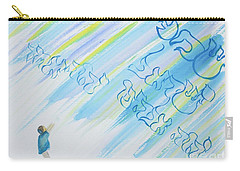 Boy And Shma Shema Carry-all Pouch