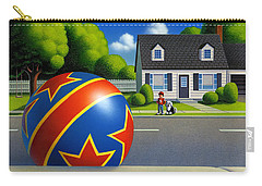 Boy And The Ball  Carry-all Pouch