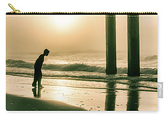Carry-all Pouch featuring the photograph Boy At Sunrise In Alabama  by John McGraw
