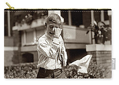 Carry-all Pouch featuring the painting Boy Crying  by Artistic Panda