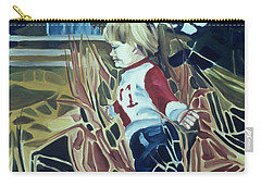 Boy In Grassy Field Carry-all Pouch