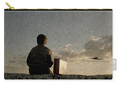 Boy On Wall Carry-all Pouch