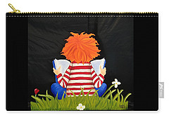 Boy Reading Book Carry-all Pouch