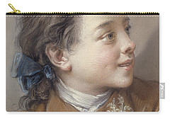 Boy With A Carrot, 1738 Carry-all Pouch by Francois Boucher