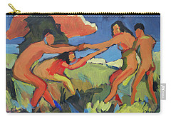 Boys And Girls Playing Carry-all Pouch