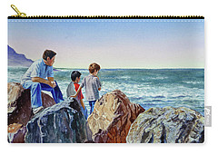 Boys And The Ocean Carry-all Pouch