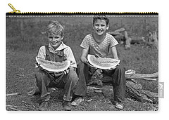Boys Eating Watermelons, C.1940s Carry-all Pouch by H. Armstrong Roberts/ClassicStock
