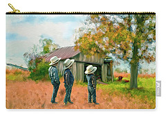 Boys On The Farm Carry-all Pouch by Mary Timman