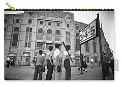 Boys Staring At Yankee Stadium Carry-all Pouch