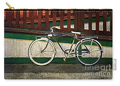 Carry-all Pouch featuring the photograph Bozeman Antique Bicycle by Craig J Satterlee