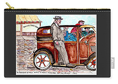 Bracco Candy Store - Window To Life As It Happened Carry-all Pouch by Philip Bracco