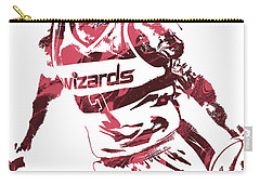 Bradley Beal Washington Wizards Pixel Art 3 Carry-all Pouch