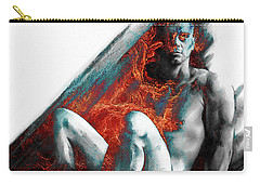 Carry-all Pouch featuring the drawing Bradley With Mood Texture by Paul Davenport