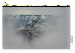 Carry-all Pouch featuring the photograph Brahma Temple In A Sea Of Clouds by Gaelyn Olmsted