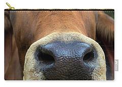 Brahman Cattle Closeup Portrait Carry-all Pouch