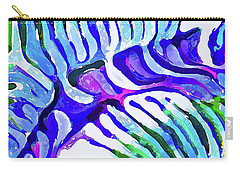 Brain Coral Abstract 5 In Blue Carry-all Pouch