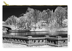 Carry-all Pouch featuring the photograph Branch Brook Park New Jersey Ir by Susan Candelario