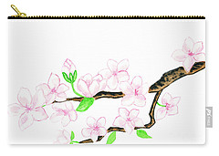 Branch With White Flowers Carry-all Pouch