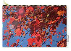 Branches Of Red Maple Leaves On Clear Sky Background Carry-all Pouch