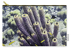 Carry-all Pouch featuring the photograph Branching Tube Sponge by Perla Copernik