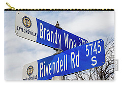 Carry-all Pouch featuring the photograph Brandywine And Rivendell Street Signs by Gary Whitton