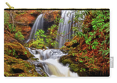 Brasstown Falls 013 Carry-all Pouch by George Bostian