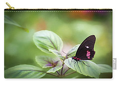 Carry-all Pouch featuring the photograph Brave Butterfly  by Cindy Lark Hartman