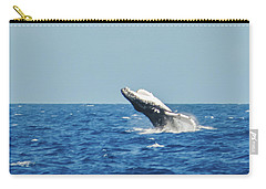 Carry-all Pouch featuring the photograph Breaching Humpback Off Bermuda by Jeff at JSJ Photography