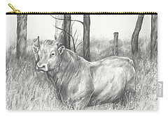 Carry-all Pouch featuring the drawing Breaker Study by Meagan  Visser