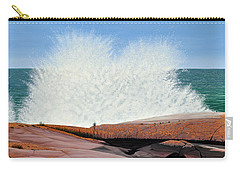 Carry-all Pouch featuring the painting Breakers On Georgian Bay by Kenneth M  Kirsch