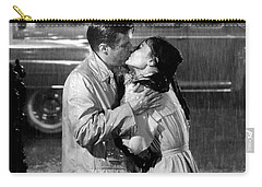 Carry-all Pouch featuring the photograph Breakfast At Tiffanys Audrey Hepburn And George Peppard by R Muirhead Art