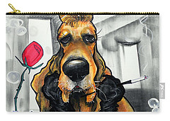 Breakfast At Tiffany's Basset Hound Caricature Art Print Carry-all Pouch